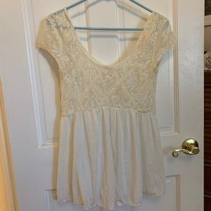 Free People Lace Babydoll Tunic XS